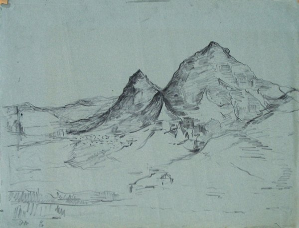 4512: Isidor Ascheim Original Ink Drawing