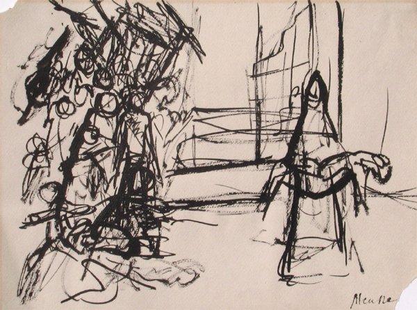 1710: Zigmond Menkes Original Drawing French Art