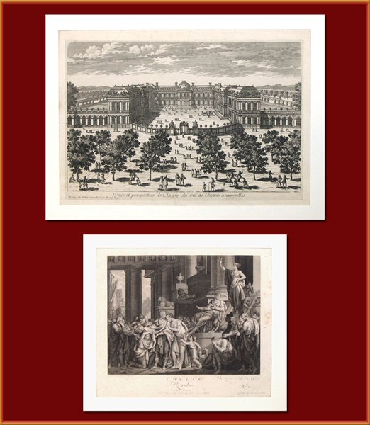 1712: Two Antique Engravings, Late 19th Century