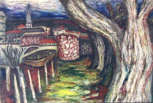 1715: Engela Seliktar Original PAINTING Israeli Art