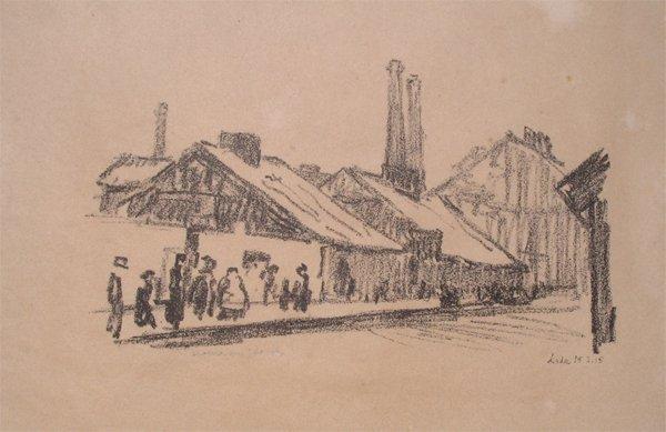 1718: Herman Struck Original Lithogrpah