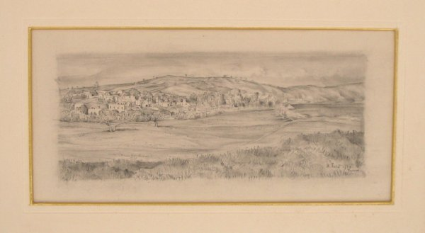 1719: Anna Ticho Original EARLY pencil drawing