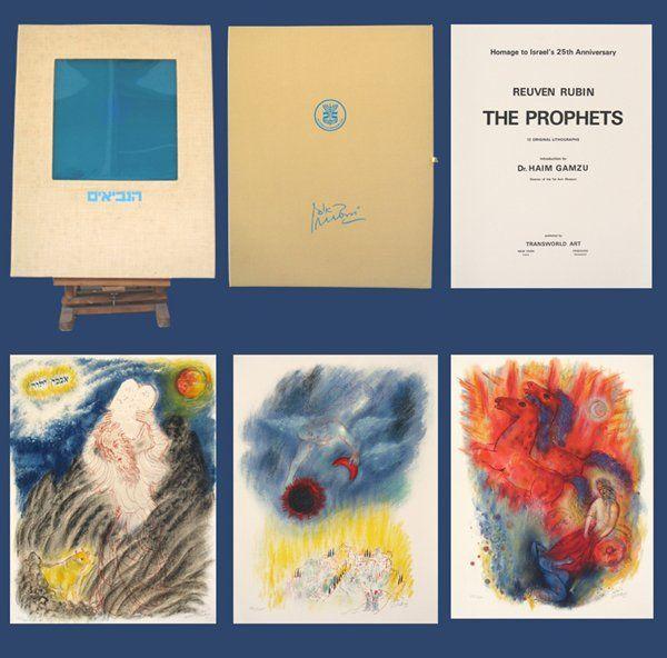 Reuven Rubin Original Lithographs Portfolio