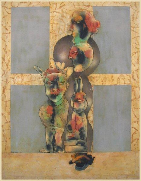 2703: Rafael Wachash Original Mixed Media Painting