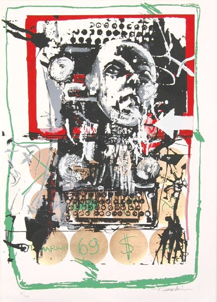 2707: Igael Tumarkin Original Signed No. Silkscreen