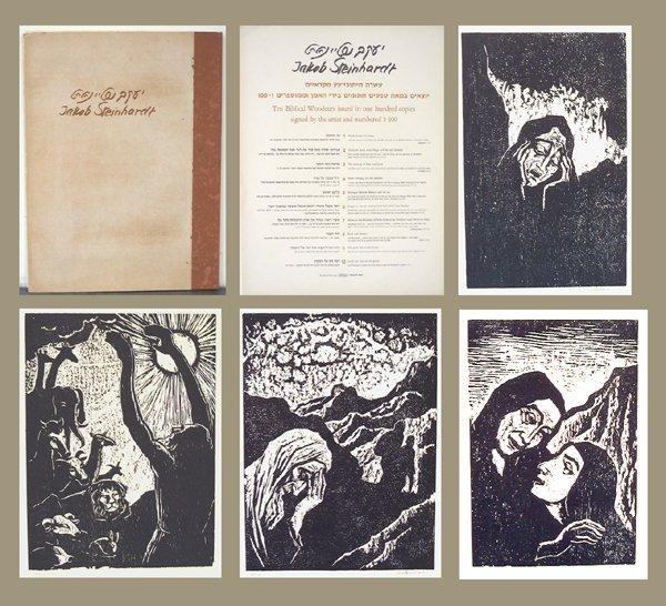 2711: Jacob Steinhardt Original Signed No. 10 Woodcuts