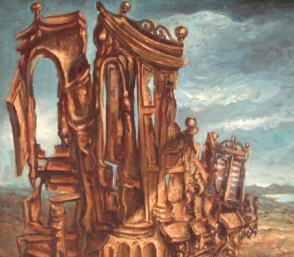 2820: Yosl Bergner Original Oil Painting 1969