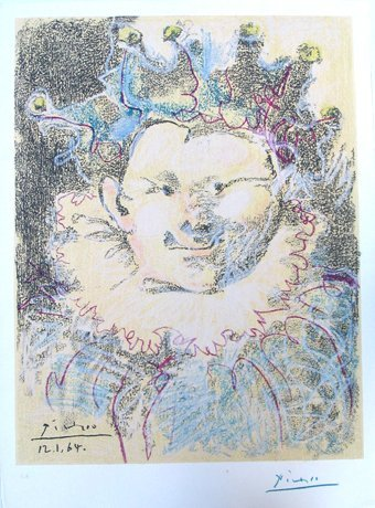 3769: Pablo Picasso Signed and No. Lithograph