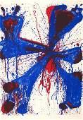 3786: Sam Francis Original Signed No. Lithograph