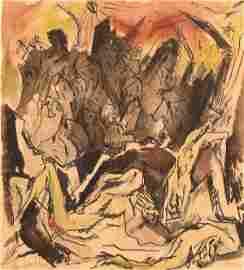 4777: J. Steinhardt Original  RARE Watercolor