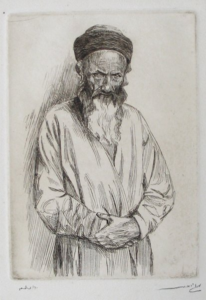 1311: M. Gur-Arieh, Original sign etching Bezalel Early