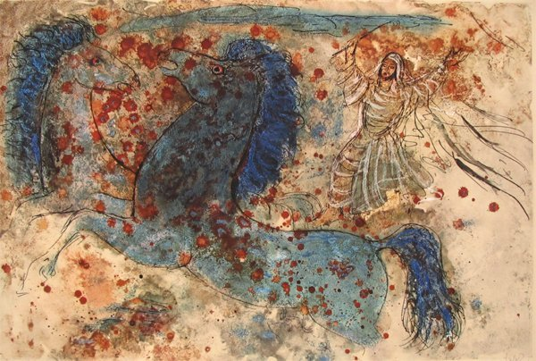 2302: Reuven Rubin Original Signed No. Lithograph