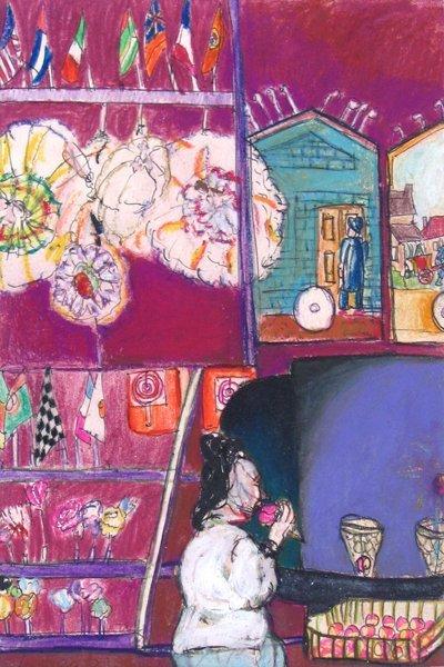 2305: Moreno Pincas Original  Painting Israeli French