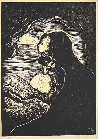 2307: J.Steinhardt Original Signed No. Woodcut/Biblical