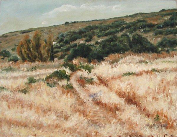 2309: Alon Porat, Original oil on canvas, Galil