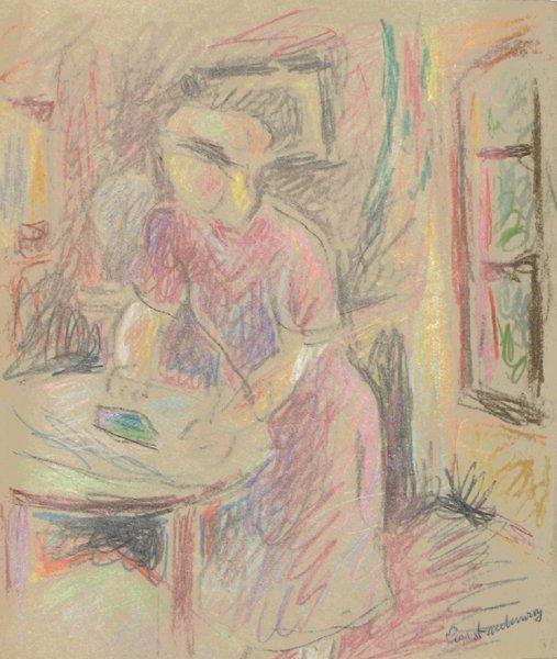 2313: Joseph Constant Original Drawing French Art