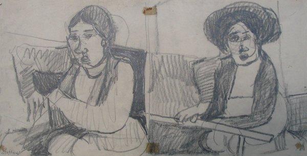 2318: Uri Stettner Original Drawing Israeli Art