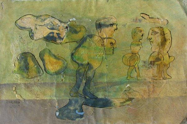 2319: Rafael Wachash Original Mixed Media Painting