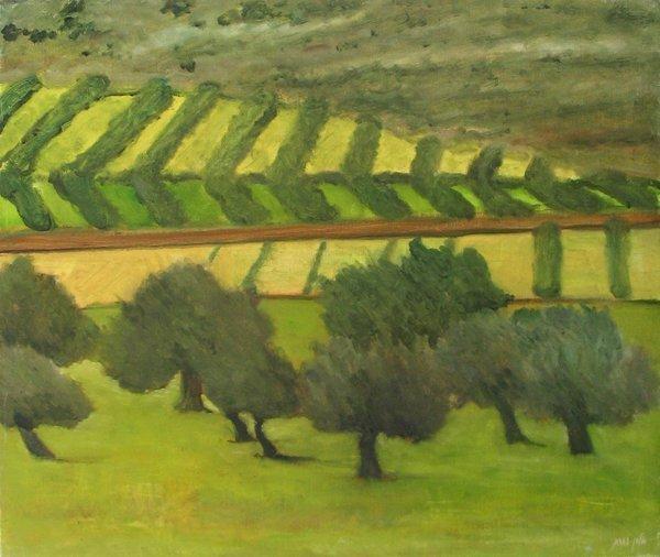 2381: Alon Porat, Original oil on canvas, Galil