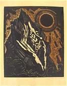 2403: J.Steinhardt Original Signed Woodcut Jewish Art