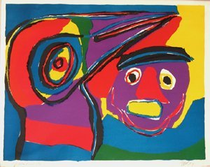 3300: Karel Appel Original Signed No. Lithograph