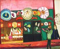 3303: Moreno Pincas Original S&N painting, French Art