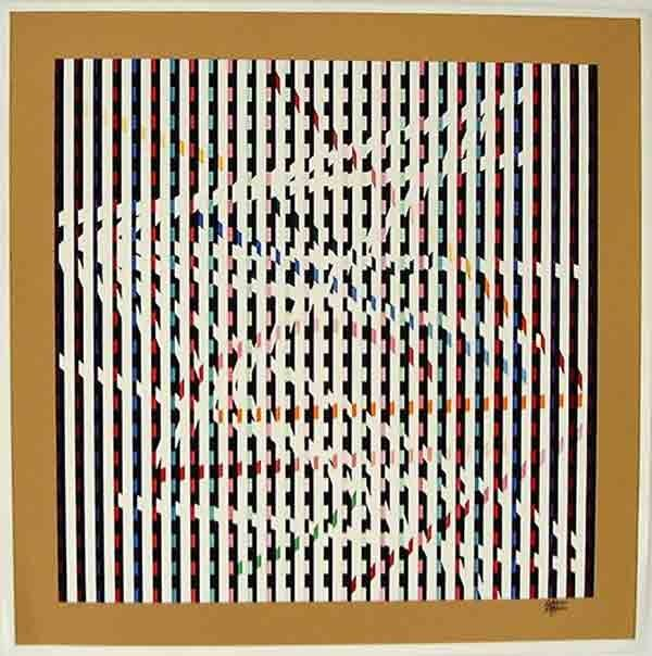 3306: Y. Agam Original Signed No.Silkscreen Kinetic Art