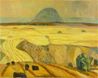 3351: Michal Kovner, Original oil on canvas, ISRAELI AR