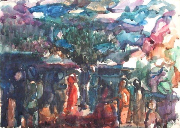 4301: Aharon Giladi Original Painting Israeli Art