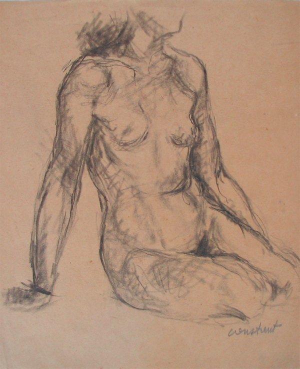 4303: Joseph Constant Original Drawing French Art