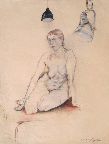 4318: Moreno Pincas Original Drawing French Art
