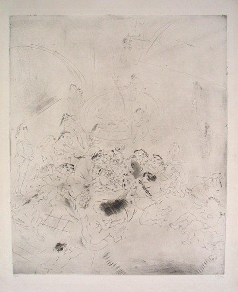 4321: Jules Pascin Original Etching, Nudes