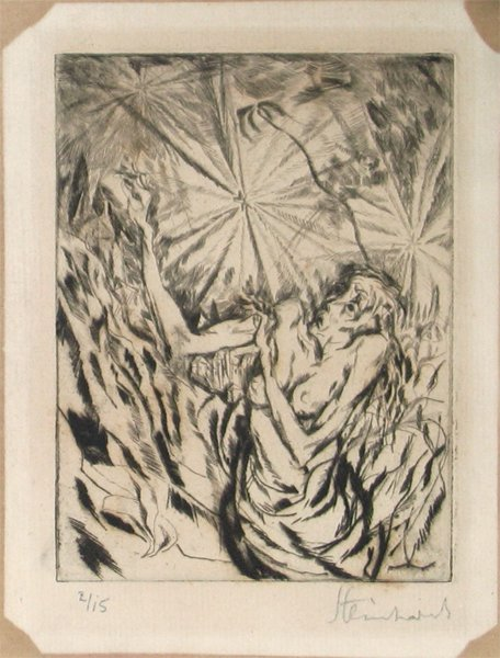 4322: J. Steinhardt Original Signed Etching Jewish Art