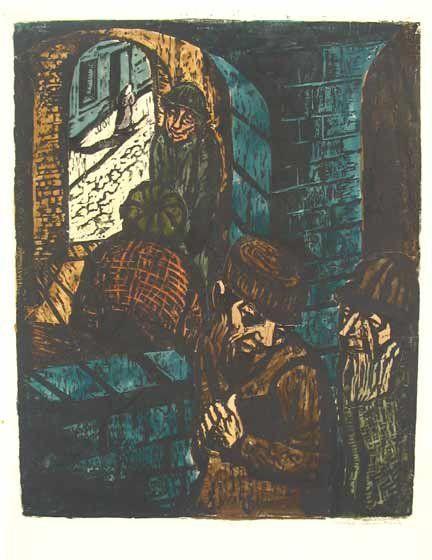 J.Steinhardt Original Woodcut Jewish Art 1925