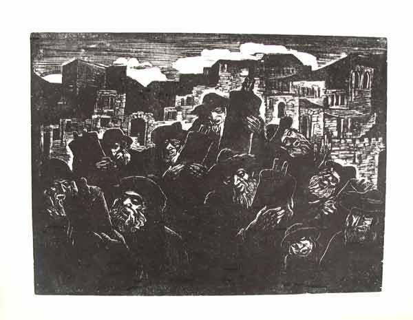 4346: J.Steinhardt Original  Woodcut Jewish Art 1924