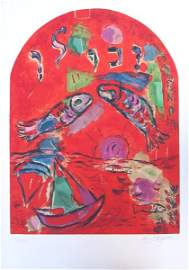 4394: Marc Chagall Signed and No. Lithograph Tribes