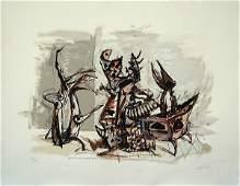 549: Yosl Bergner S&N LITHOGRAPH Israeli/Australian art