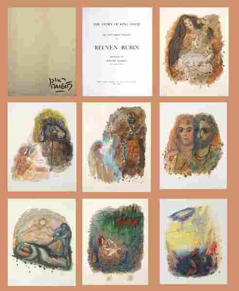Reuven Rubin Original 12 LITHOGRAPHS Portfolio