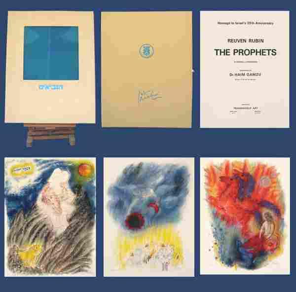 Reuven Rubin 12 LITHOGRAPHS Portfolio BIBLICAL ART