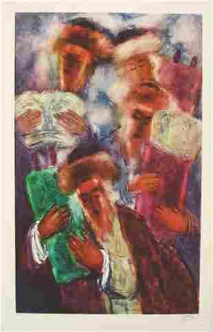 Reuven Rubin Original S&N LITHOGRAPH Jewish Art