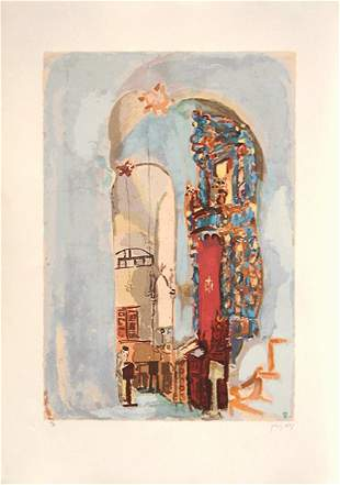 Nahum Gutman S&N SILKSCREEN Israeli Art