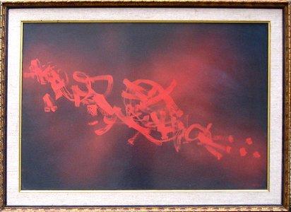 608: M. Ardon Original Painting - Israeli Art Kabala