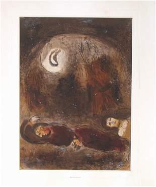 Marc Chagall open edition LITHOGRAPH Jewish Art