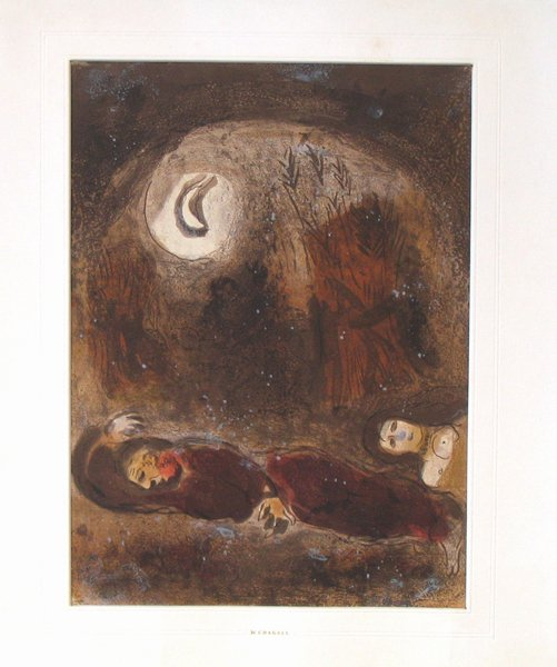 611: Marc Chagall open edition LITHOGRAPH Jewish Art