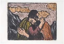 613: Jacob Steinhardt RARE Original Woodcut Jewish Art