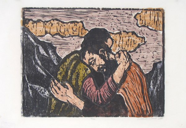 613: Jacob Steinhardt RARE Original Woodcut Jewish Art