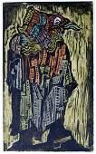 614: Jacob Steinhardt RARE Original Woodcut Jewish Art