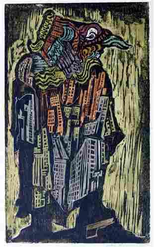 Jacob Steinhardt RARE Original Woodcut Jewish Art