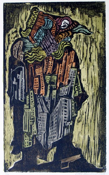 614: Jacob Steinhardt RARE Original Woodcut  Jewish Art