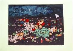 618: Mordecai Ardon Original S&N SILKSCREEN Israeli Art